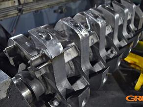 Ремонт лопаток ротора дробилки по переработке пластмасс
