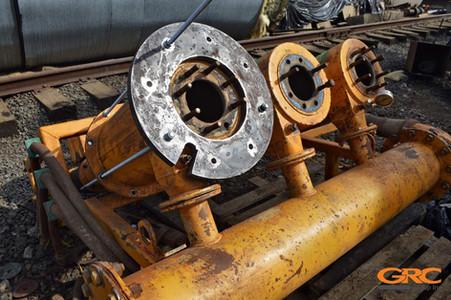 Удаление заломышей и восстановление резьбы сепаратора туннельной машины
