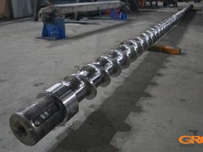 Ремонт 7 метрового шнека для экструдера