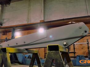 Ремонт телескопической стрелы экскаватора-погрузчика New Holland B110