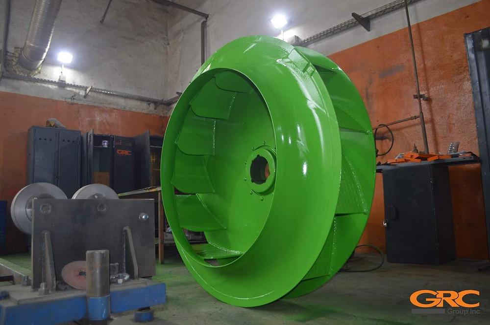 Рабочее колесо дымососа АБЗ Teltomat после ремонта