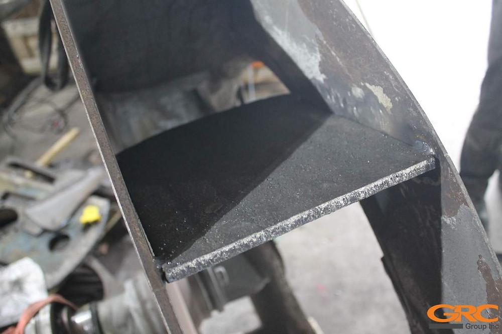 Приварка новых лопаток из биметаллических плит