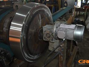 Восстановление рабочей поверхности упорного ролика сушильного барабана