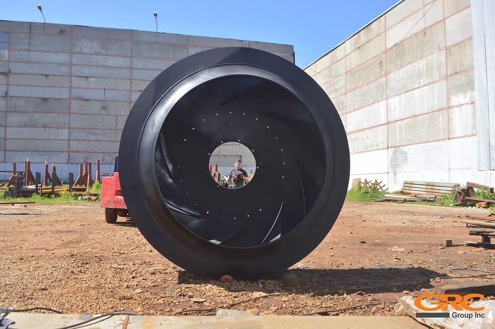 Замена лопаток рабочего колеса