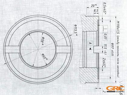Ремонт кулаков трактора HITACHI