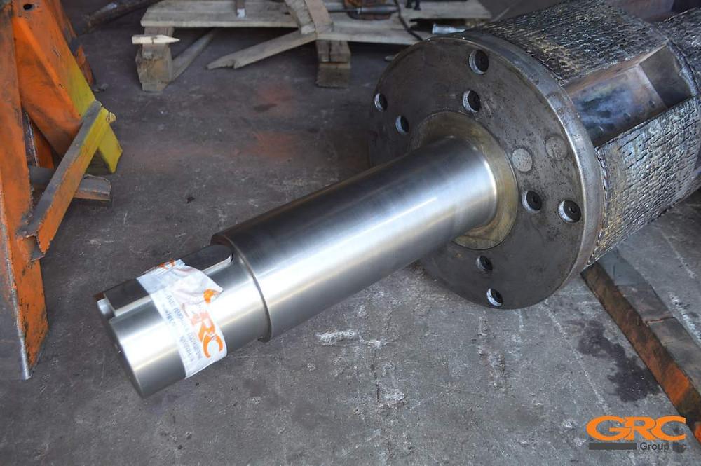 Ротор дробилки переработки шин после ремонта