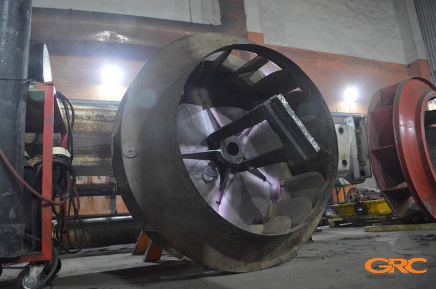 ремонт колеса вентилятора дымососа