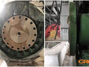 Мобильная фрезеровка и расточка фланца якоря электродвигателя МП-1100