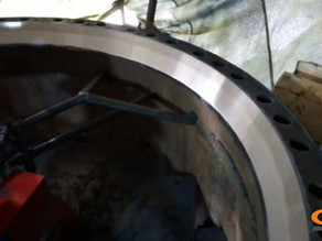 Восстановление посадочного места под опорное кольцо на станине конусной дробилки КСД-2200