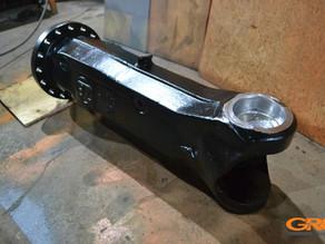 Ремонт чулка переднего управляемого моста экскаватора Hitachi ZX 160