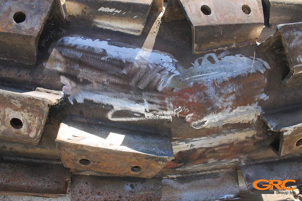 Демонтаж сегментов измельчающего барабана