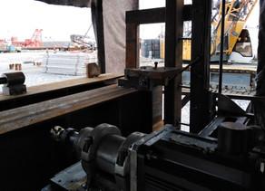 Мобильная фрезеровка стальных балок для строительства ангаров