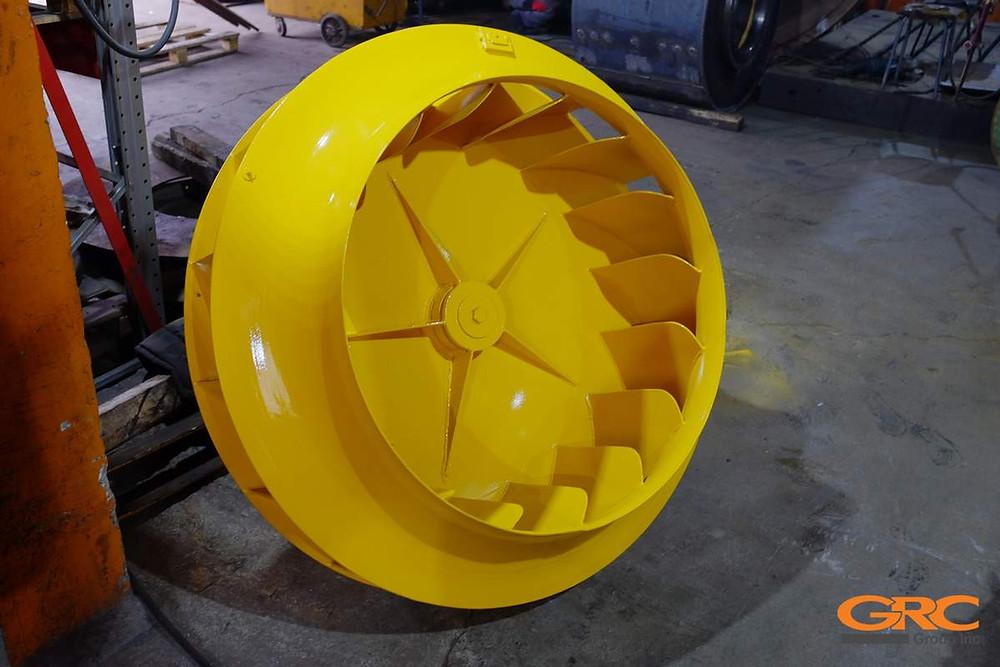 Колесо вентилятора дымососа после ремонта