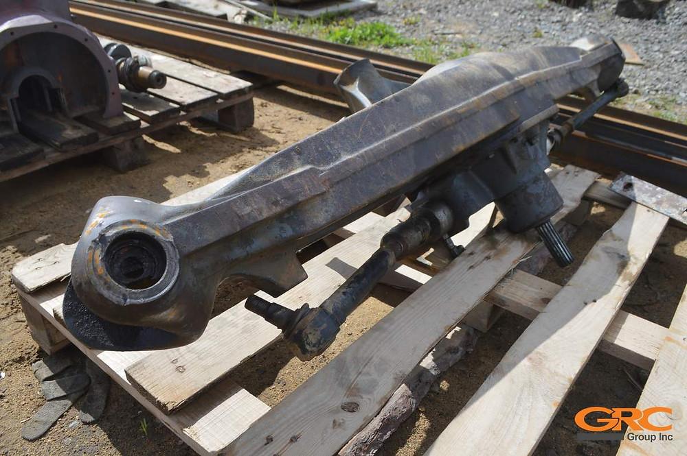 Ремонт переднего моста экскаватора-погрузчика TEREX