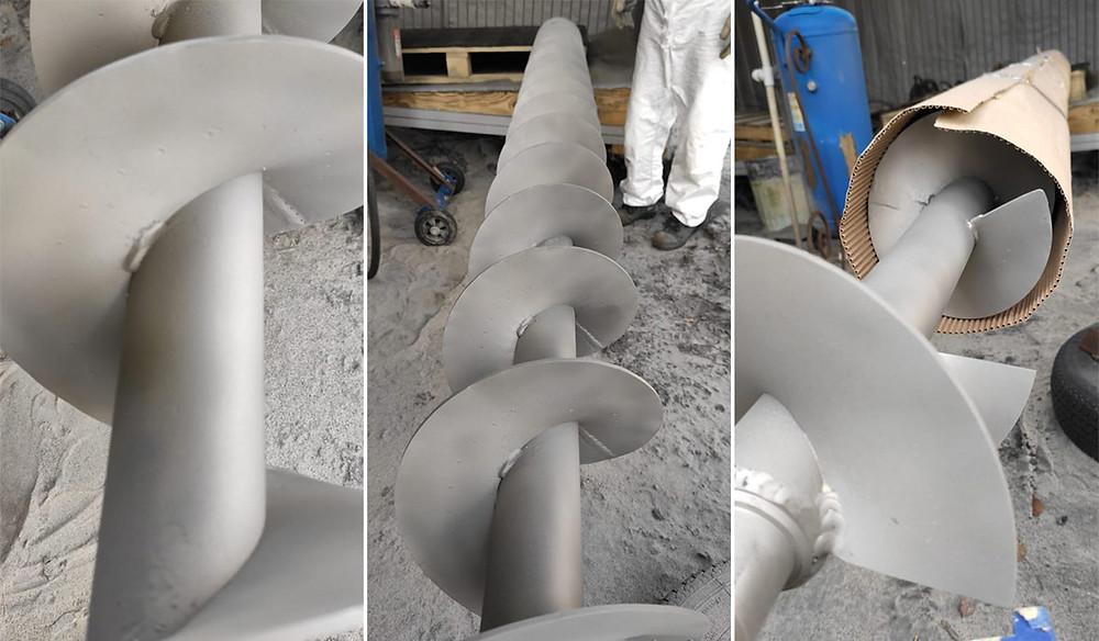 Шнековый транспортер после пескоструйной обработки