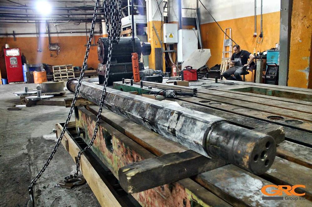 Вал бетоносмесителя LIEBHERR (Либхер) после ремонта