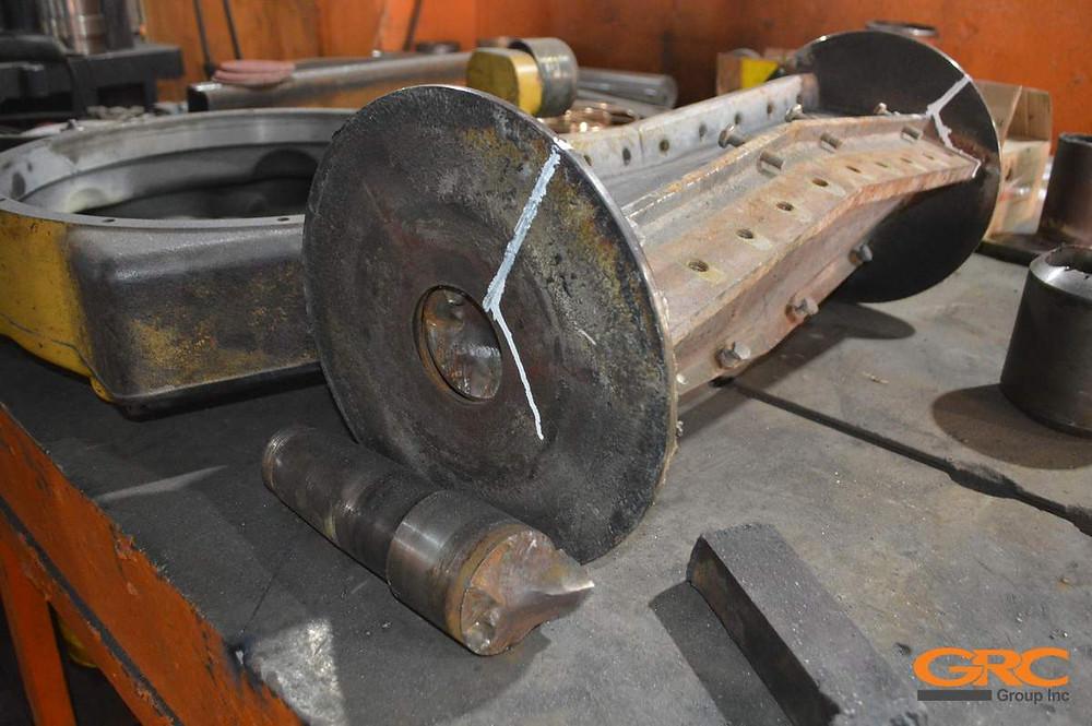 Замена хвостовика ротора дробилки ПЭТ