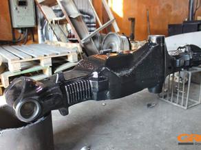 Ремонт балки переднего моста экскаватора-погрузчика Hidromek (Гидромек)