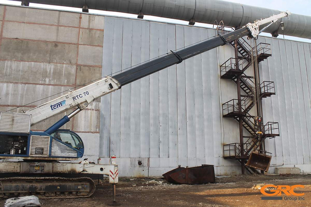 Ремонт стрелы гусеничного крана TCM RTC-70 (Ремонт компанией GRC гусеничных кранов от 25 до 100 тонн.
