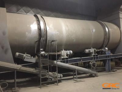 Ремонт бандажа сушильного барабана асфальтосмесительной установки