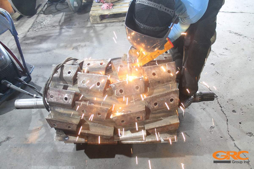 Приварка сегментов измельчающего барабана комбайна КВК 800
