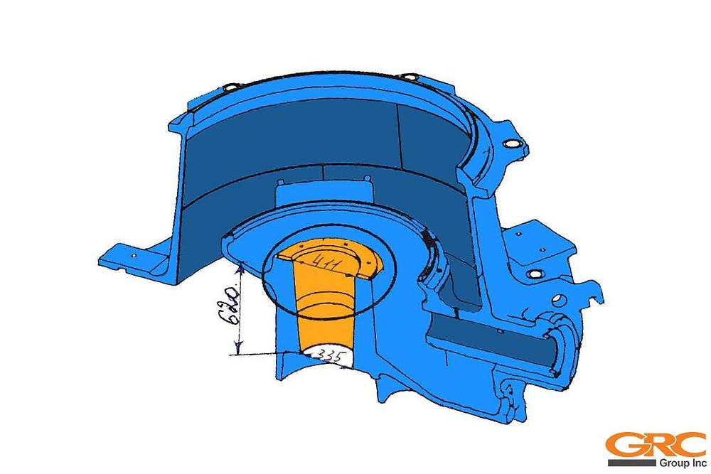 Проработка ремонта конусной дробилки METSO HP-6