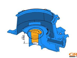 Восстановление конусной посадки главного вала в раме дробилки METSO HP-6