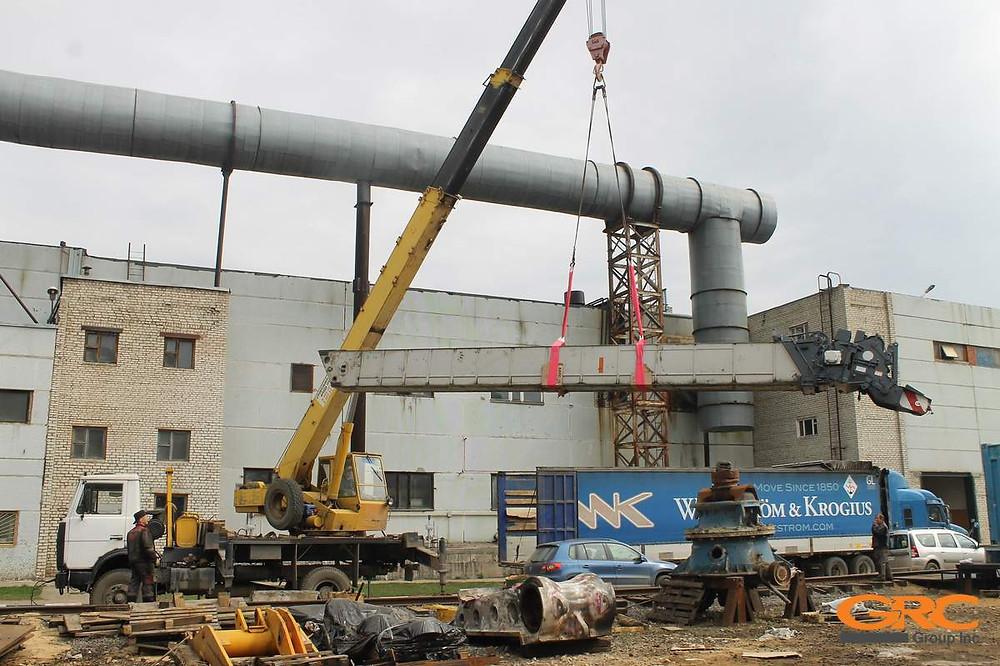Отгрузка отремонтированной секции стрелы самоходного крана KATO SR-700LS, 70т на о. Сахалин