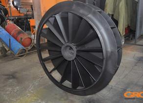 Восстановление циркуляционного вентилятора стенда колпаковой печи