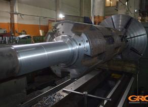 Ремонт ротора дробилки переработки шин