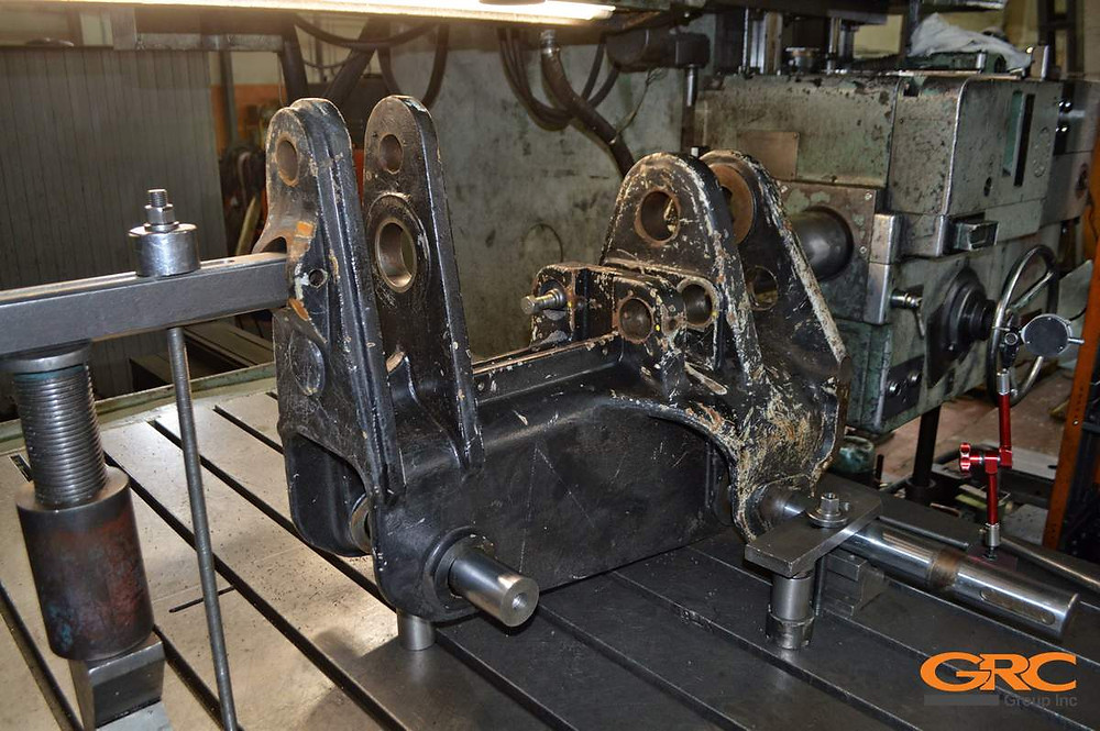 Расточка каретки экскаватора-погрузчика Hidromek HMK 102S