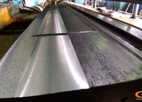 Восстановление направляющих колесотокарного станка UBB-112