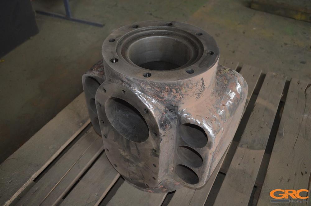 Ремонт корпуса клапана гидравлического пресса