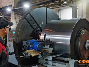 Восстановление вальцов дорожного катка BOMAG BW 154