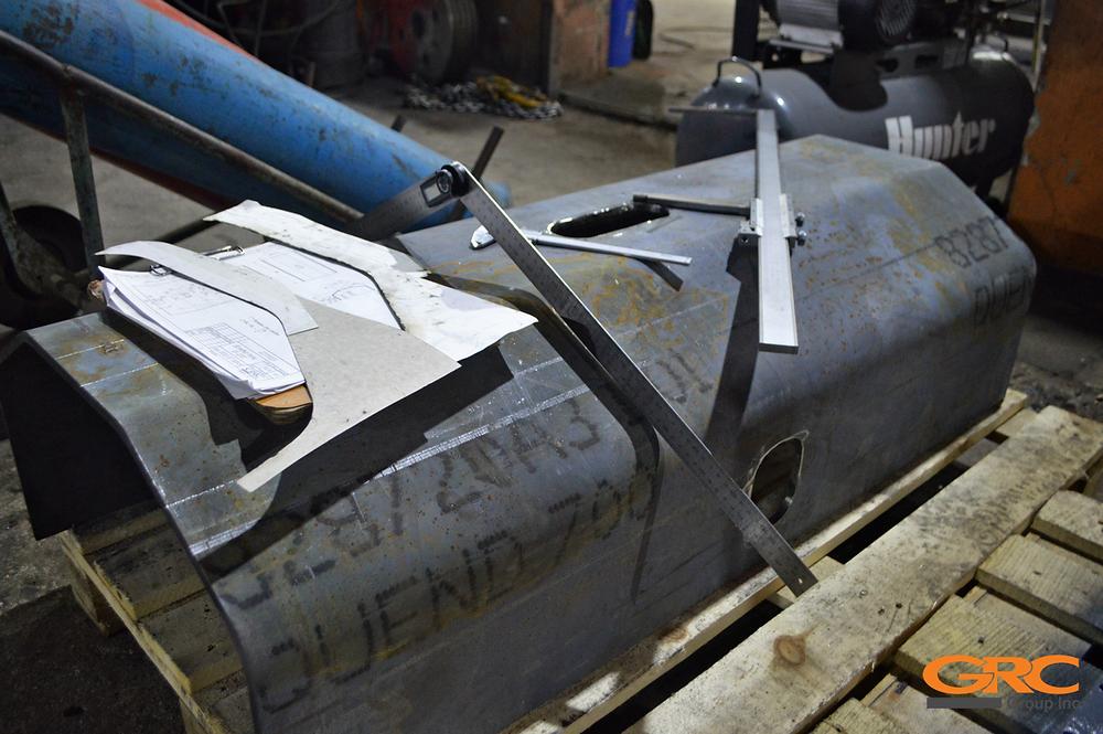 ремонт секции стрелы