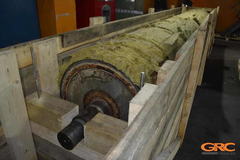 Замена цапфы сеткоповоротного вала бумагоделательной машины