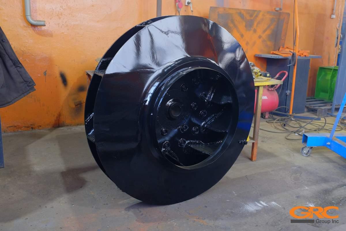 Рабочее колесо тягодутьевой машины после ремонта