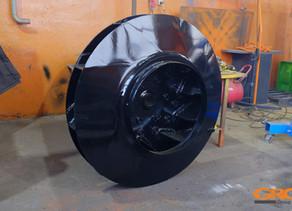 Ремонт рабочего колеса тягодутьевой машины