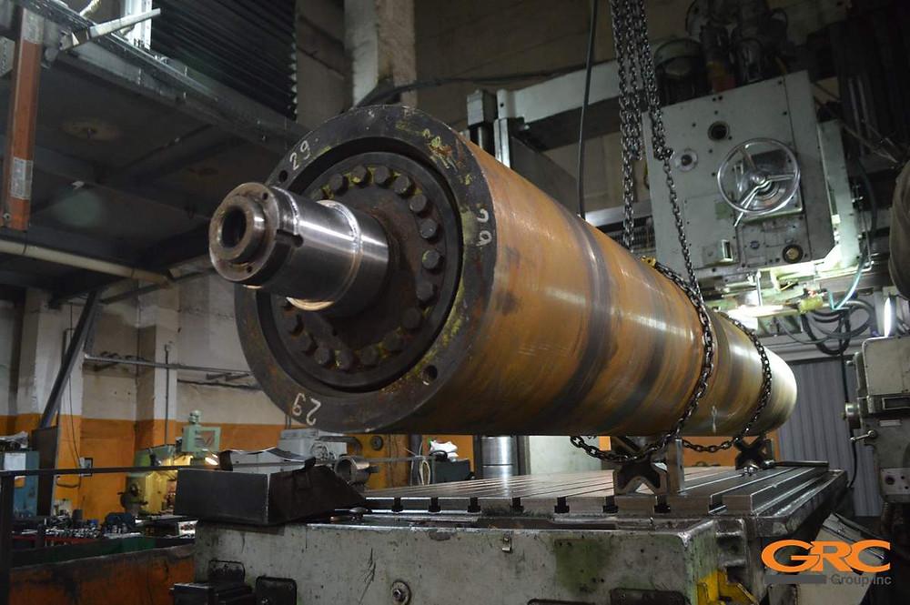 На координатно-расточном станке восстанавливаем шпоночное соединение