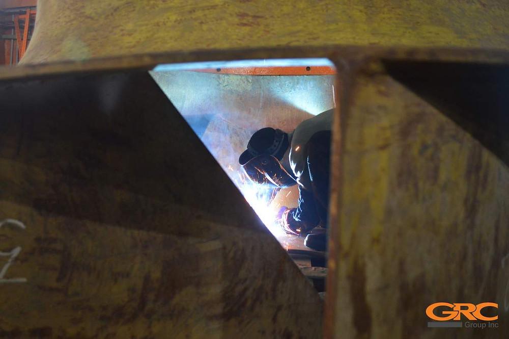 Замена лопаток рабочего колеса вентилятора дымососа