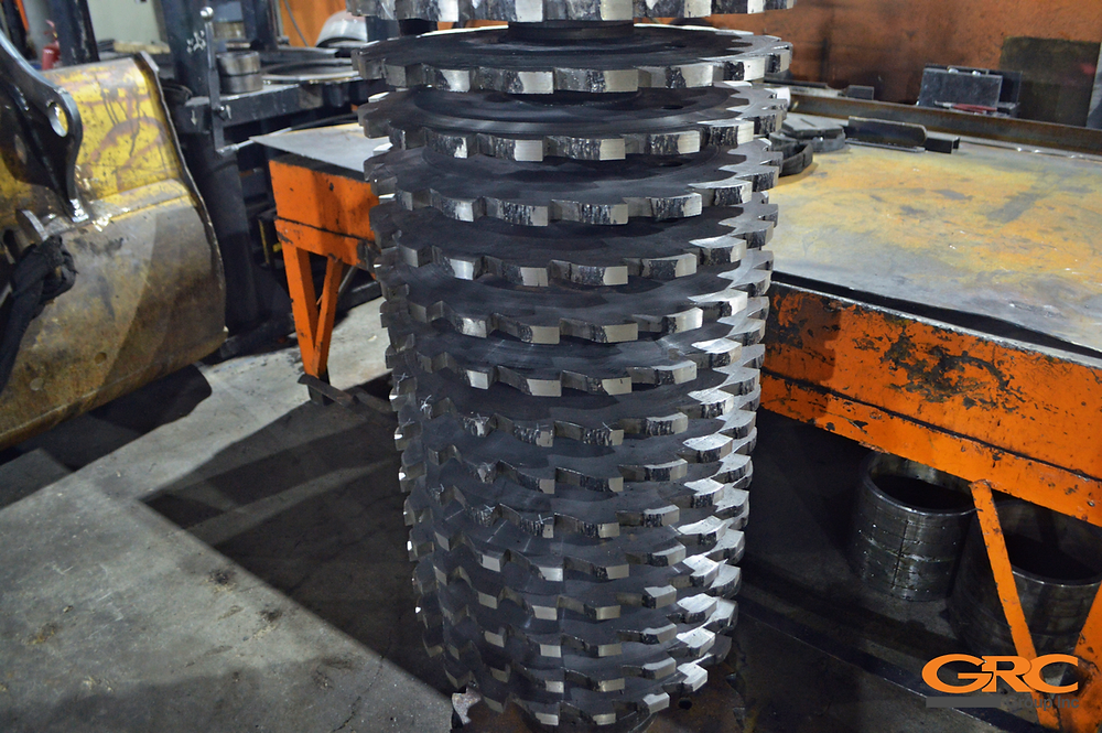 Сборка ротора дробилки
