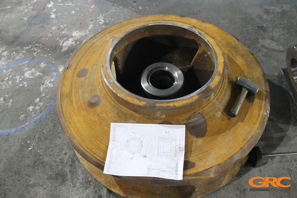 Ремонт рабочего колеса (крыльчатки) грунтового насоса ПГР-19