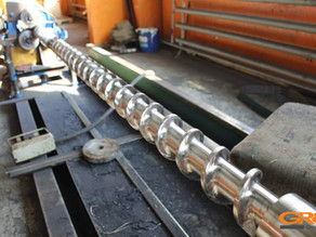 Восстановление рабочей поверхности шнека экструдера от гранулятора LD-SJP 90