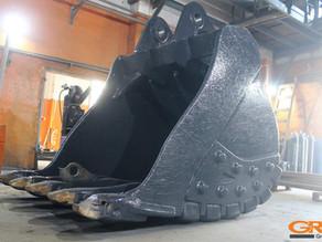 Ремонт проушин ковша карьерного экскаватора Volvo EC 700B