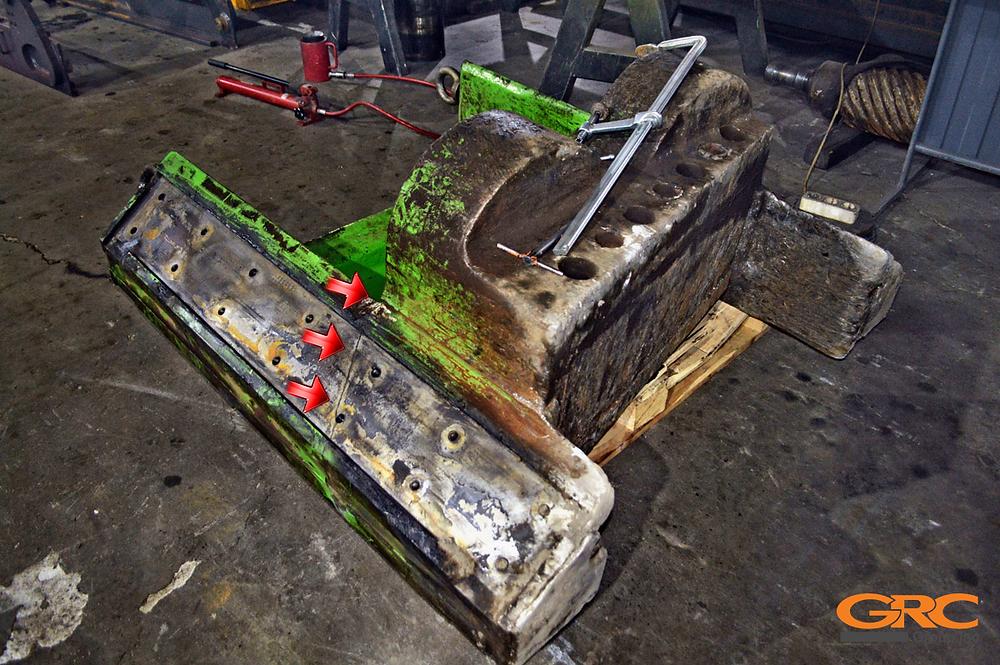 Ремонт ножевой плиты стационарных пресс-ножниц