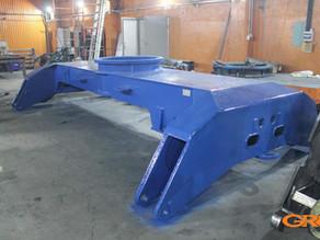 Восстановление рамы грейферного погрузчика Fuchs MHL 360