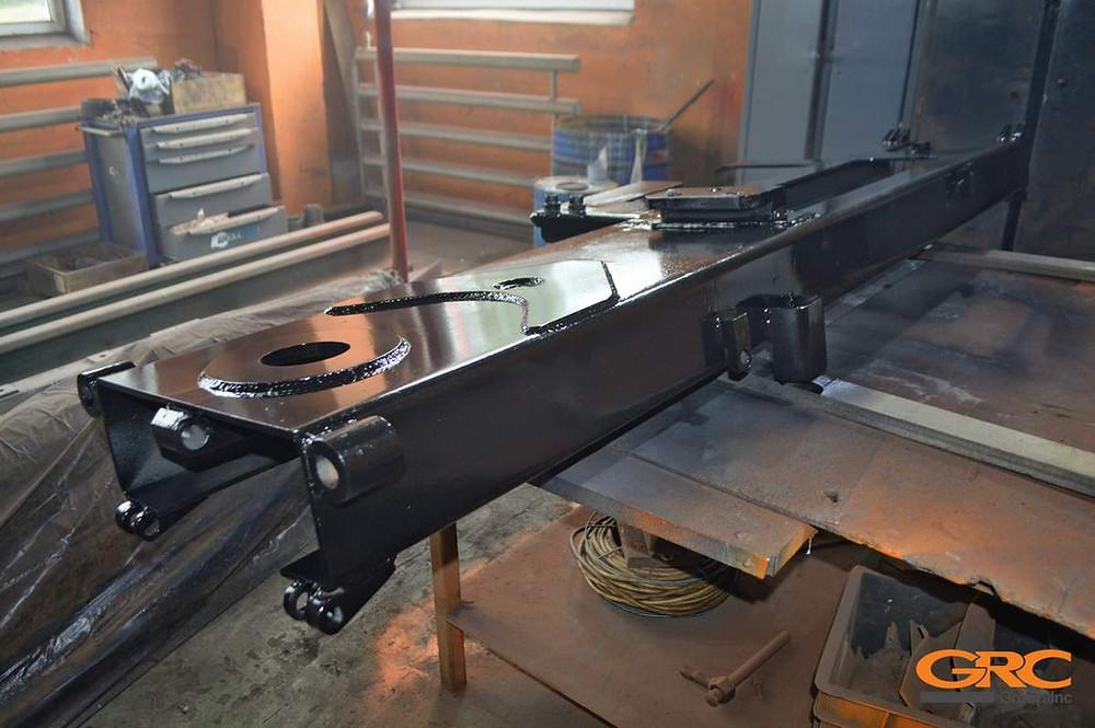 Ремонт мачты сваебойной установки ORTECO