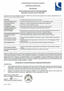 UK_CAA_Approval_Certificate_Mayflower_Co