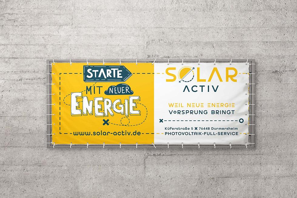 Bannerwerbung für Photovoltaik Solar Activ