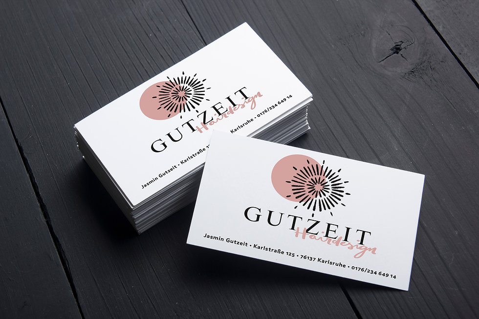 Gutzeit Hairdesign Logo Visitenkarte Karlsruhe Friseur